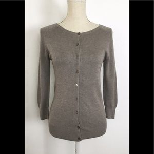 Zara Button Front Cardigan Sweater